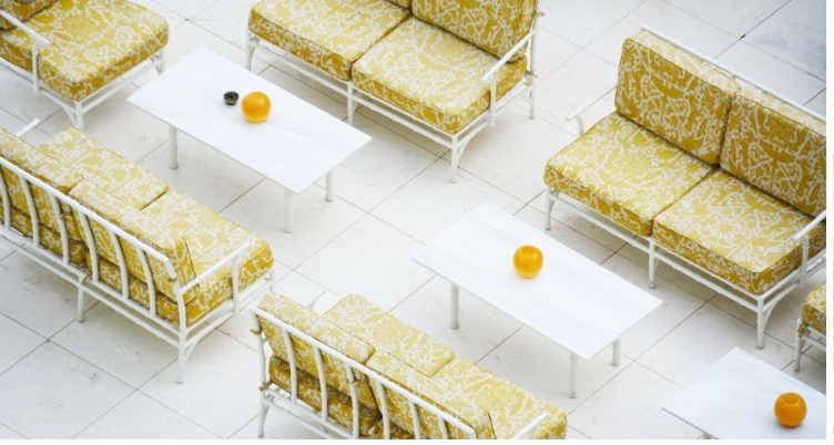 Image by Flat 15 - yellow and white interior space Faena Hotel Miami
