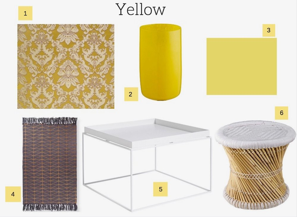 Yellow decor ideas for interior design.