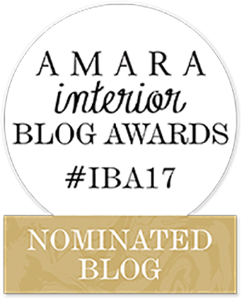This blog has been nominated for an award! - The AMARA Interior Blog Awards are THE awards to bag in the interiors blogging world! If you're a fan of the blog or a new visitor and like what you see, it would be AMAZING to have your support when the VOTING OPENS IN AUGUST -  I'll keep this section updated with further news and how to vote when the time comes! Love Anna X