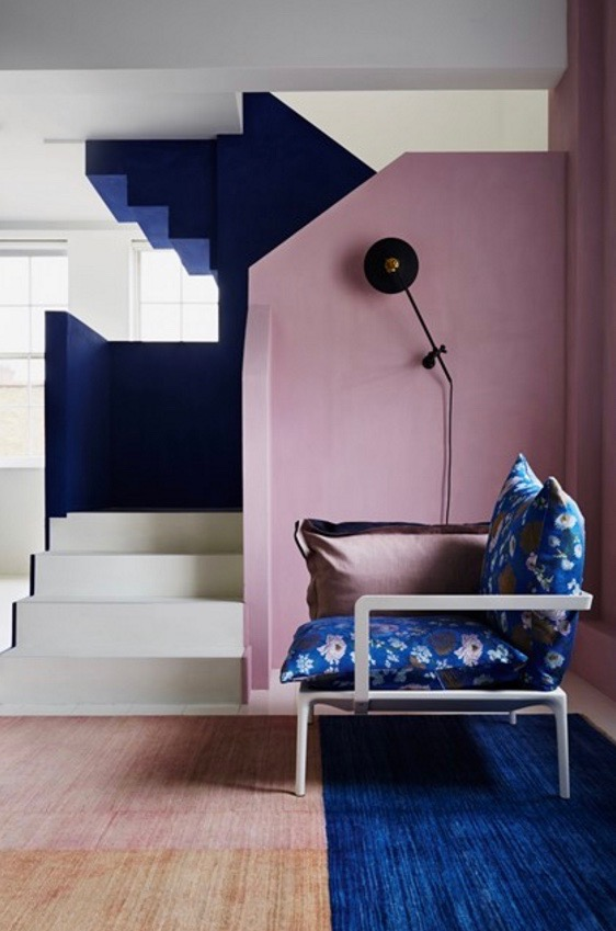 Pink and Blue interior design inspiration from House & Garden Magazine.