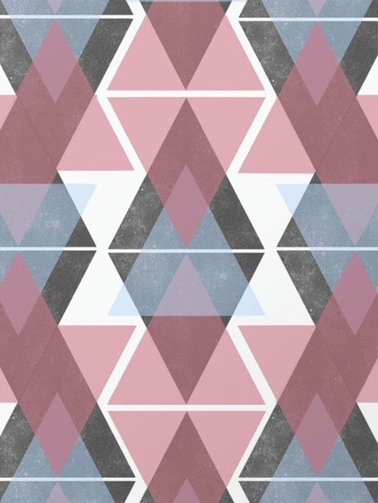 Geometric Triangle art print by Little Dean at Society 6.com