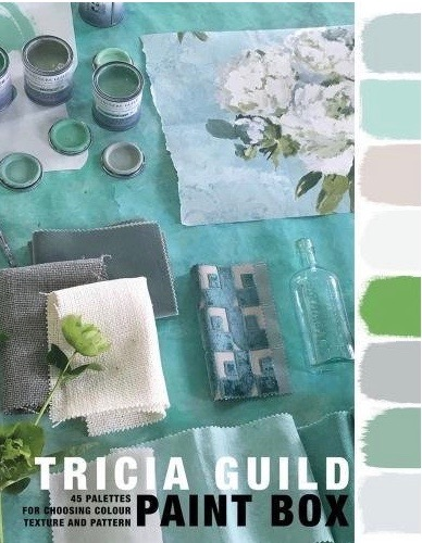 Choosing paint colours for interior design projects - the book Paint Box by Tricia Guild.