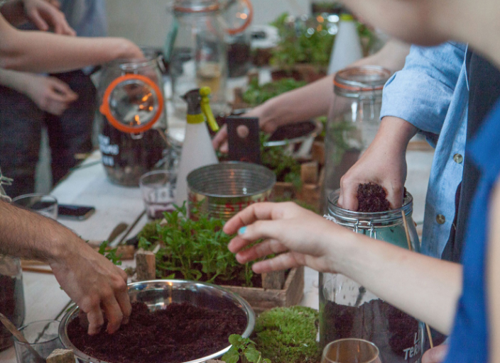 London Terrariums workshop in progress