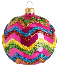 Conran glitter zigzag mexican inspired bauble