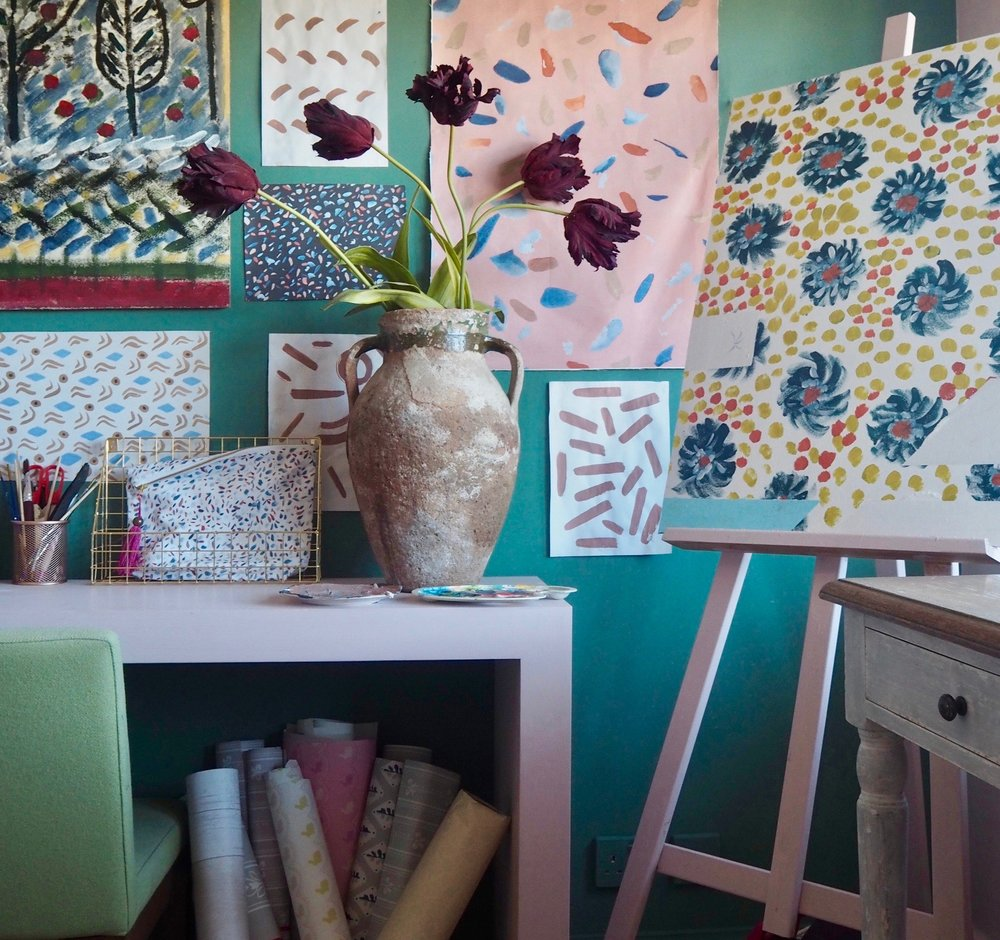 Camilla Pearl home office and studio space