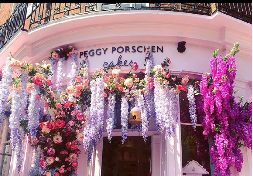 Peggy Porschen Cakes display for Chelsea In Bloom 2018