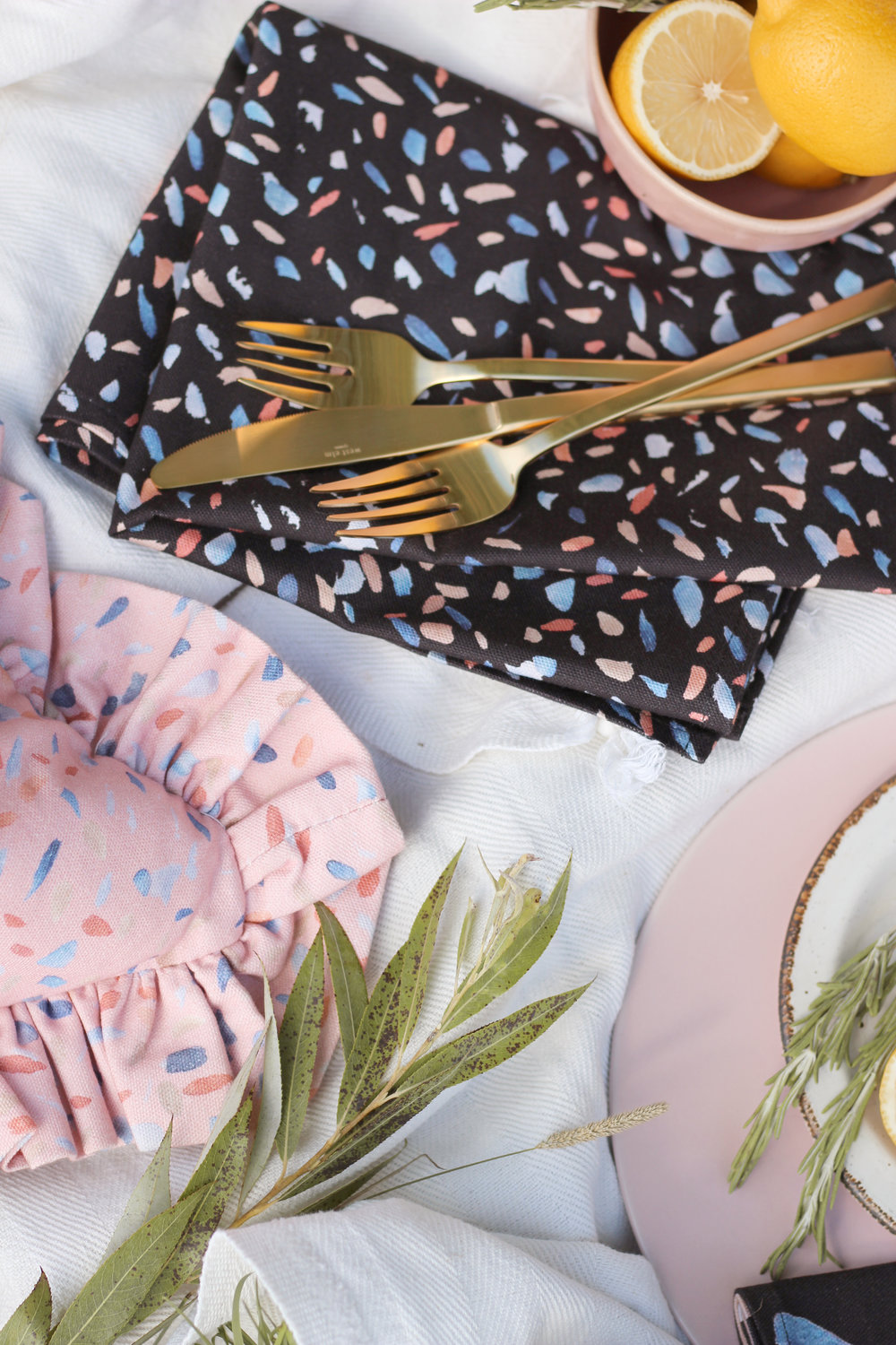House Anna table linens creating a stylish picnic
