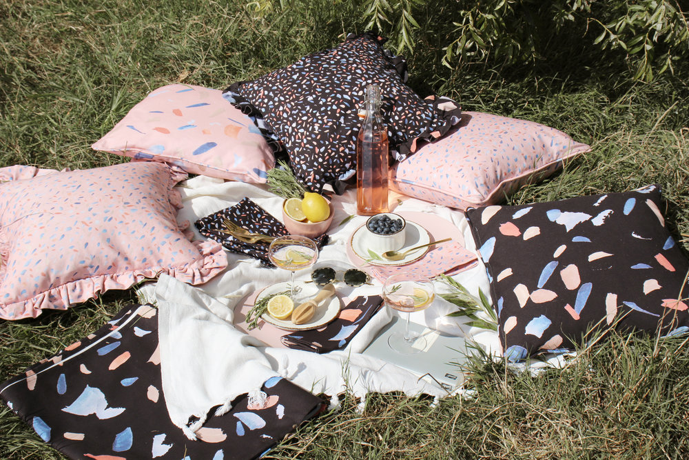 How to style a summer picnic with House Anna cushions and table linens
