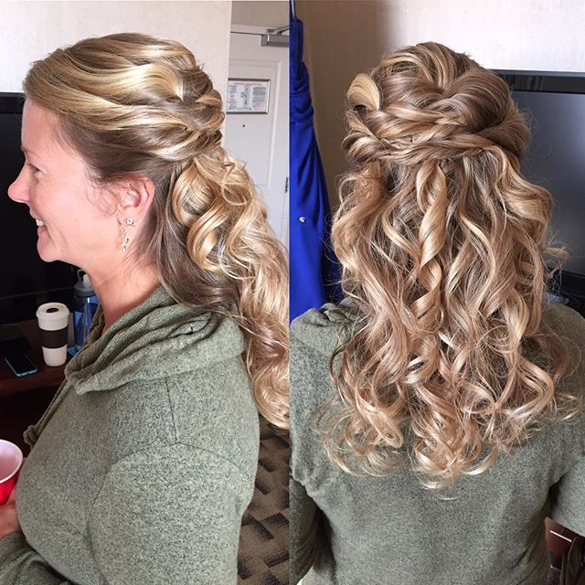 Twisty ribbons #2016bridalhair #blondebombshell #bridesmaidhair