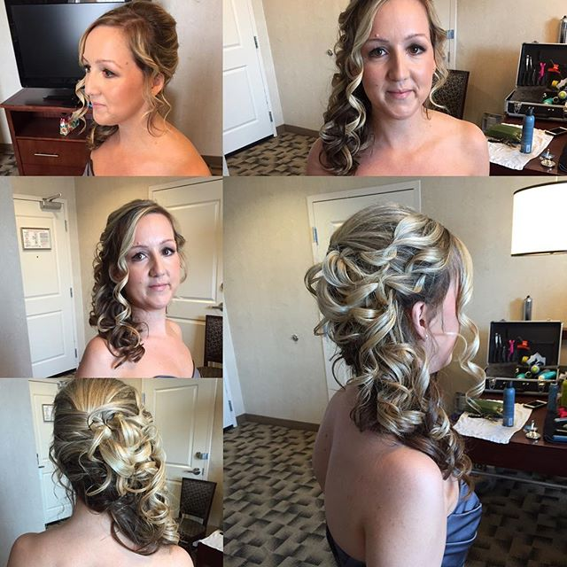 Champagne cascade #bridesmaidhair #blondebombshell