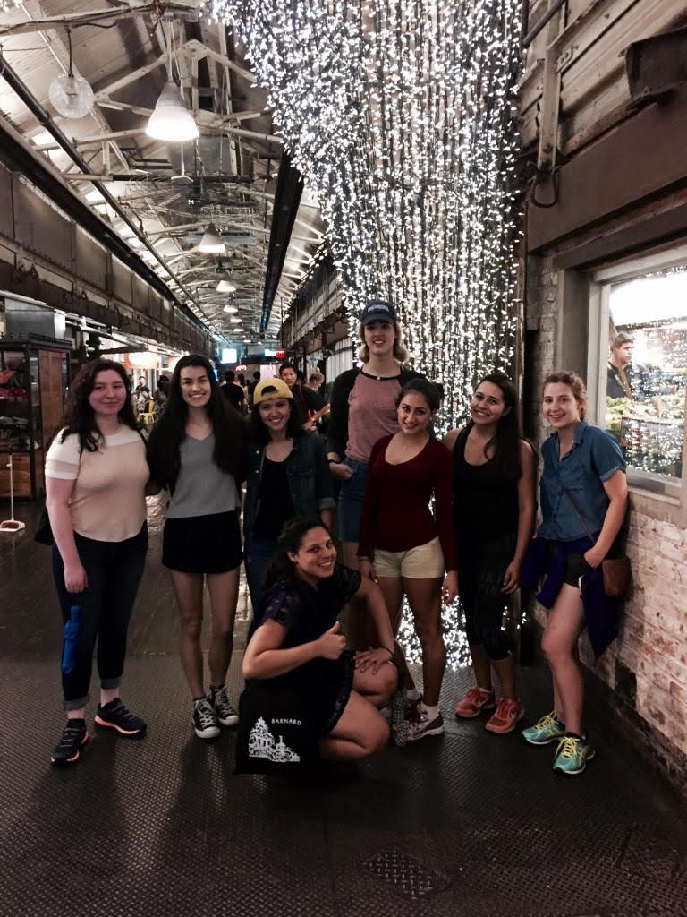 The (SP)² group hanging out it Chelsea Market!