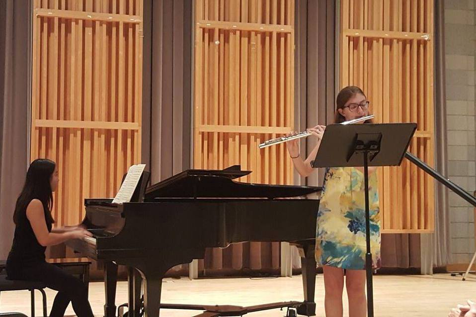 Performing a Bach Sonata at a Columbia Classical Performers concert on campus