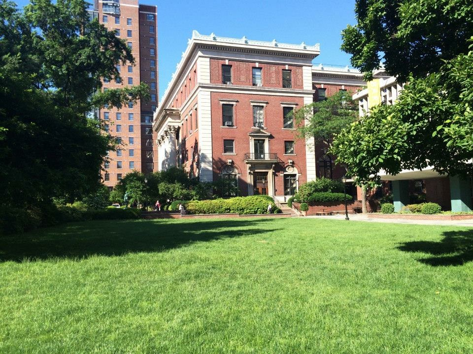 Barnard in the summer of 2015 (we no longer have the magnolia tree or the library on the left, sadly. #RIPMaggie)