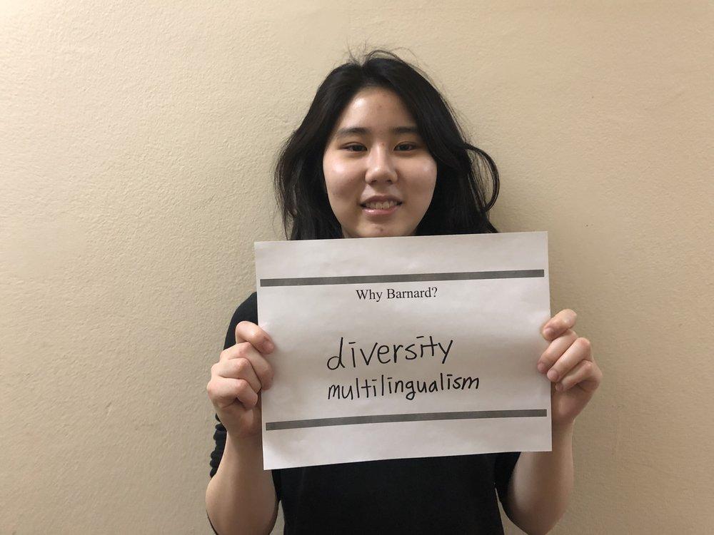"Susie P. '21 - ""Diversity and multilingualism!"""