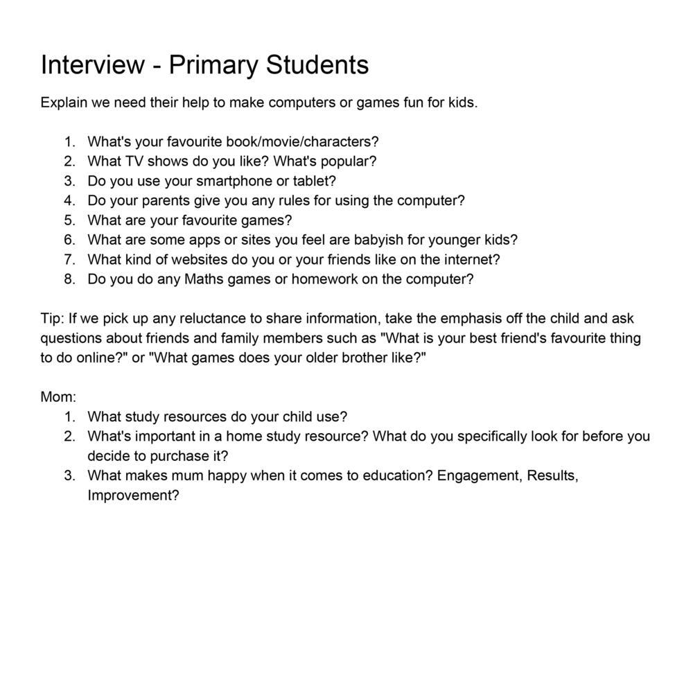 avatar world lizzie teo planning interview questions