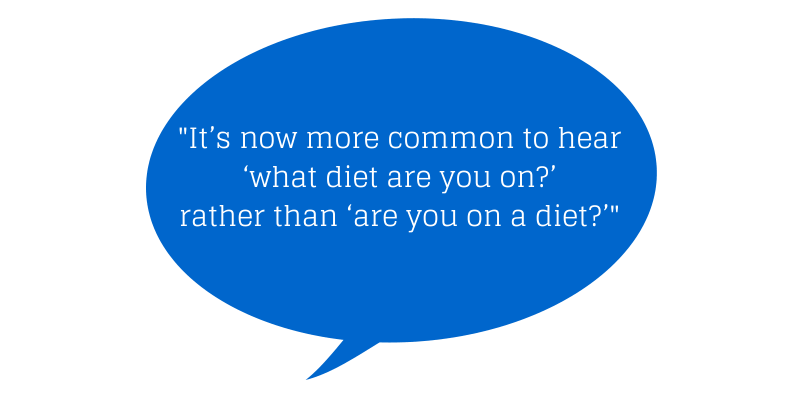 It's now more common to hear 'what diet (1)