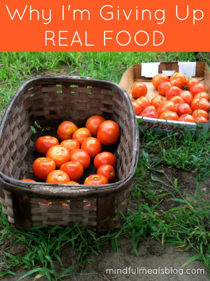Why I'm GIving up Real Food
