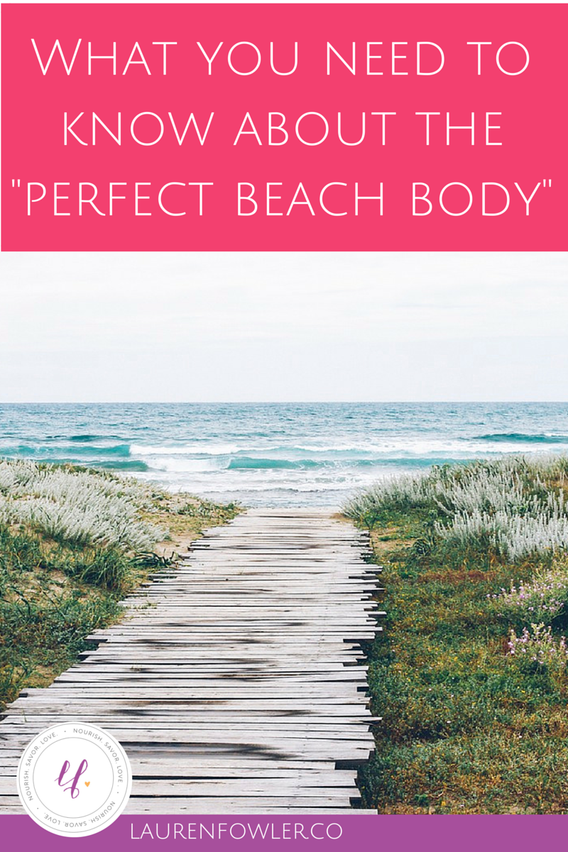 Dreaming of the 'Perfect Beach Body?' Let it Go...