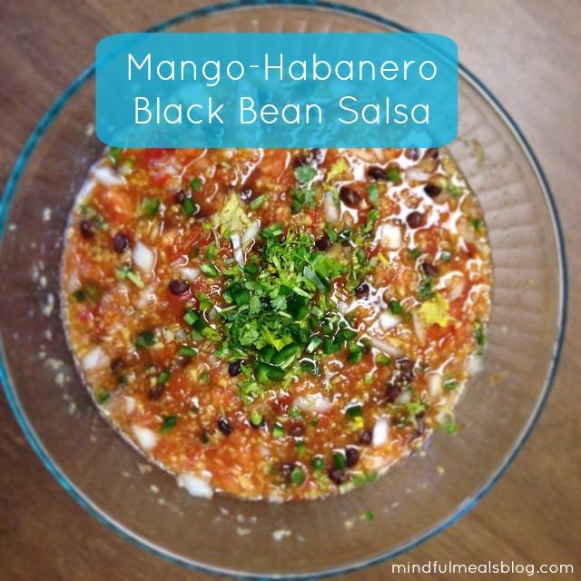 Mango Habanero Black Bean Salsa