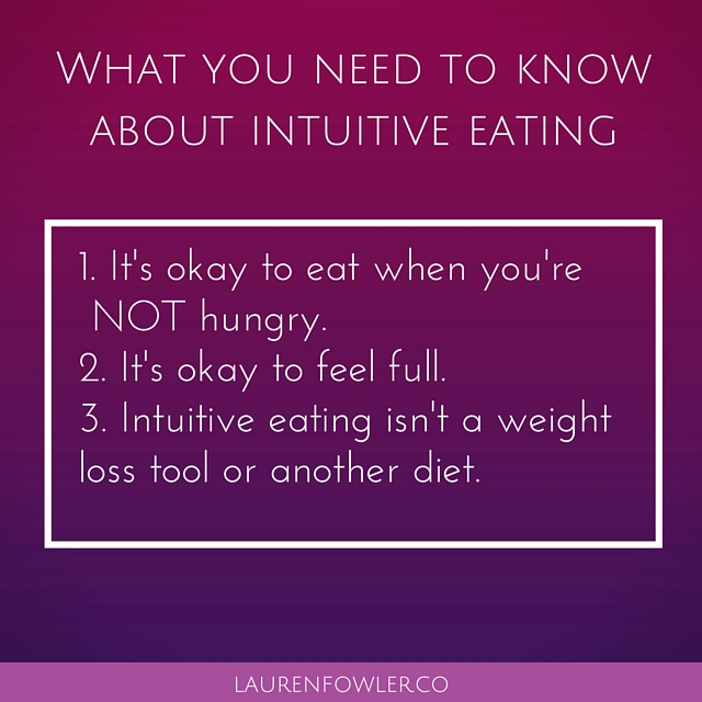 Avoid making intuitive eating (the anti-diet) yet another diet with these three mindsets. Click over to the post to learn about hunger, fullness, and why intuitive eating is a tool for a new relationship with food. You can also grab your free Make Peace with Food email course!