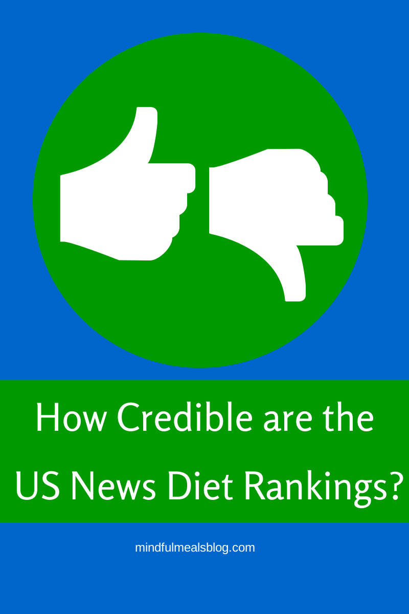 US News Best Diets Rankings: are they credible?