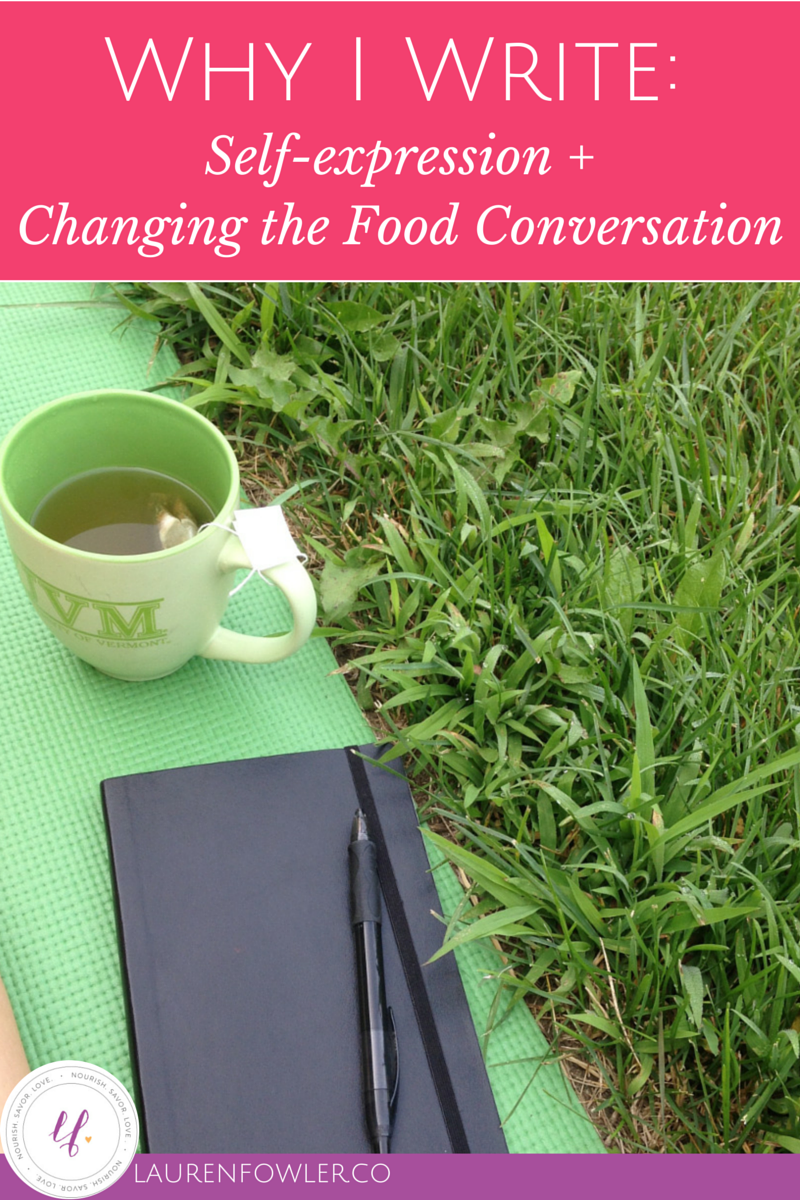 Why I Write: Self-Expression + Changing the Food Conversation