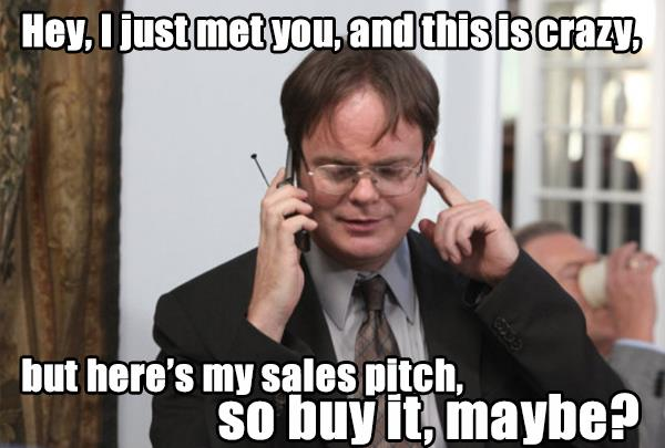 How I feel about upcoming sales calls.