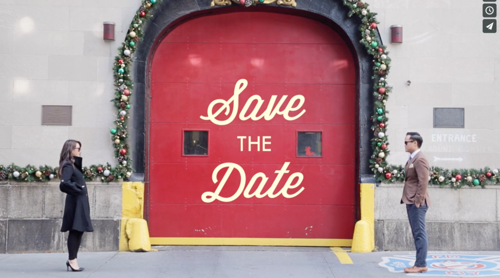 Wes Anderson inspired save the date video. So cute. So stylized.