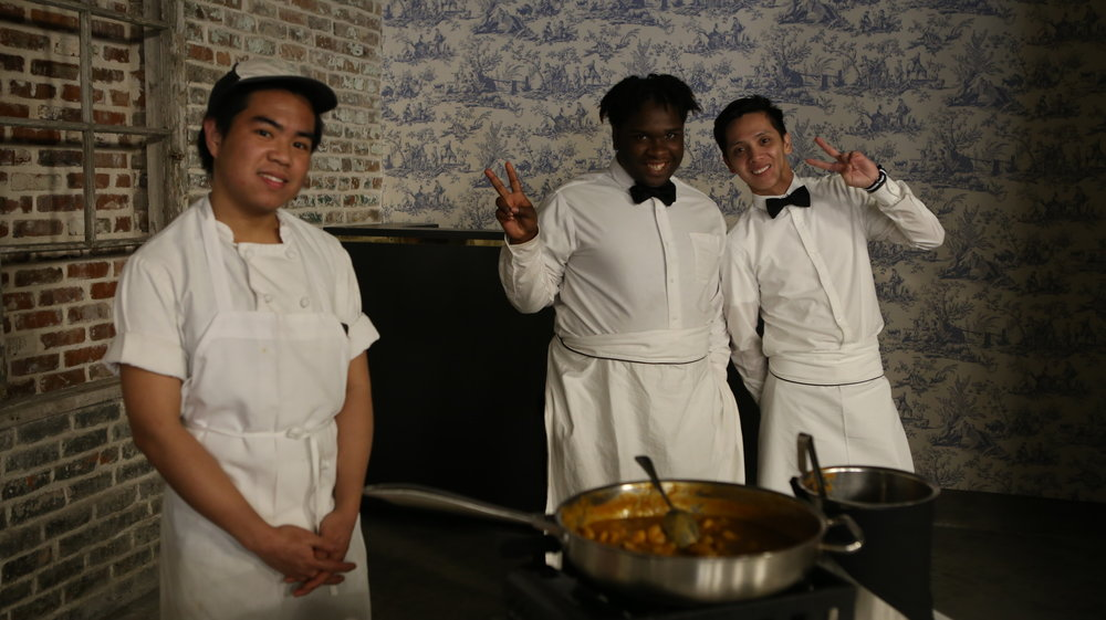 The Parlor staff cheesin' for the camera. They were serving up delicious shrimp and grits. Yum!