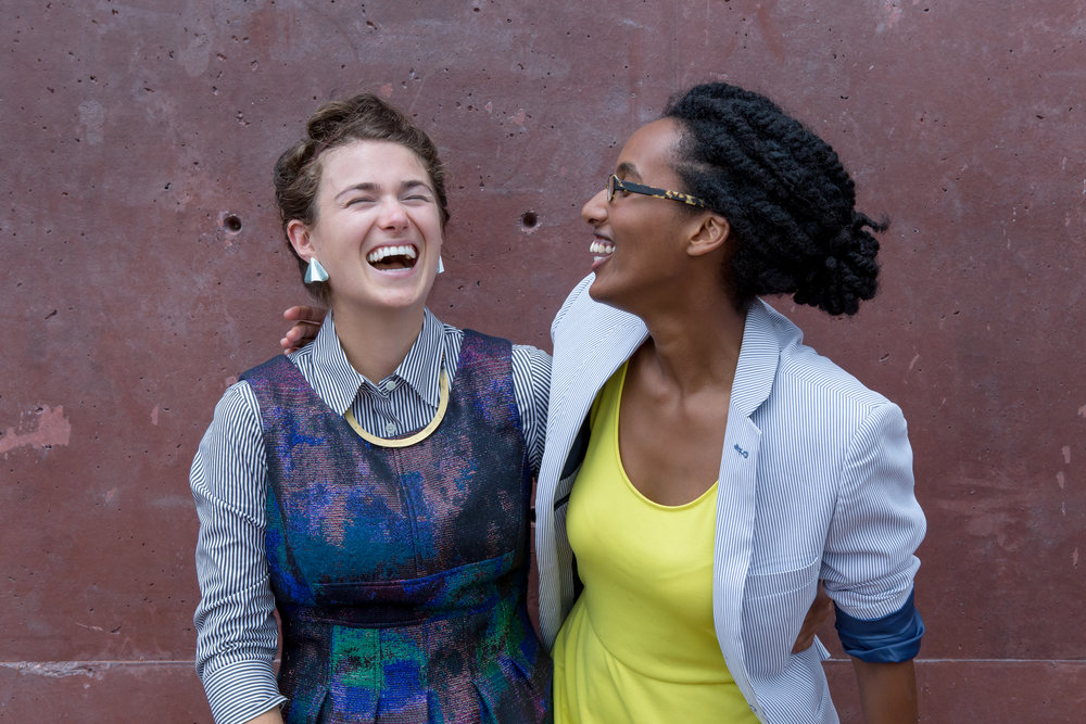 Julia Elizabeth Evans (left) and Weenta Girmay (right) co-directors at Love You Back Productions.