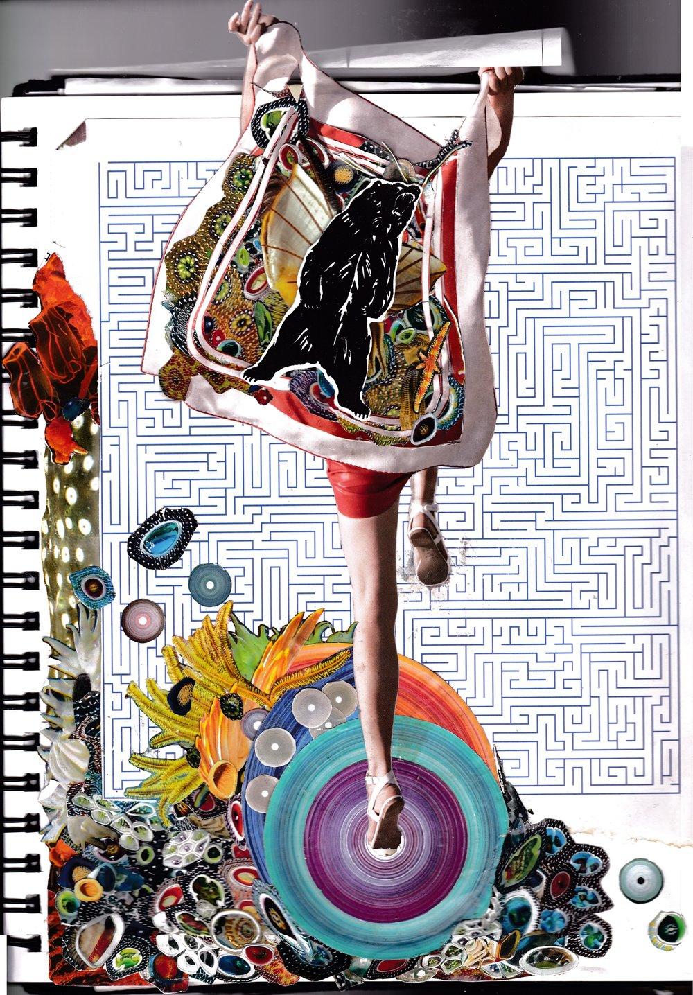 """""""Team Chimera"""" - collage by Julia Elizabeth Evans, August 2017"""