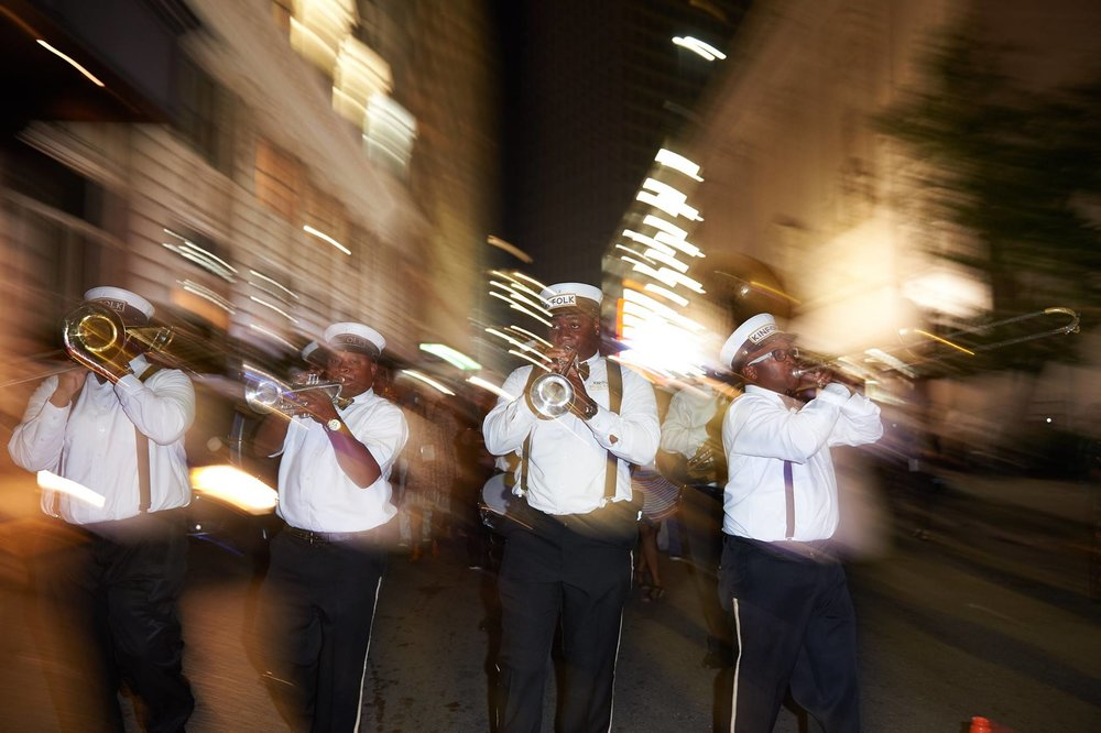 Kinfolk Second Line band.