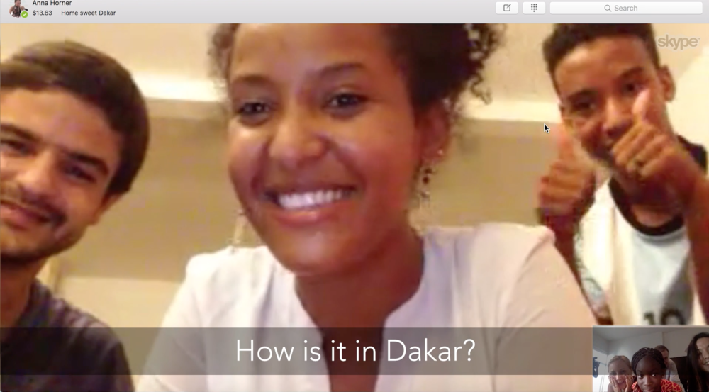 Outtake from the Skype call between the wedding party in New Orleans and family in Dakar.
