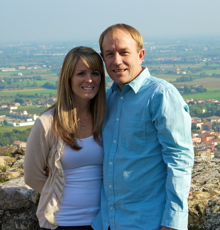 Bella Jule owners Mike and Kim Sherwin in Italy, October 2012