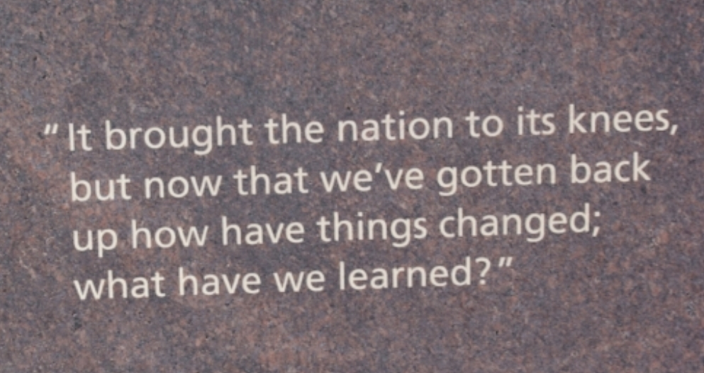 Inscription at the Columbine Memorial.  Photo by Ben Findling.