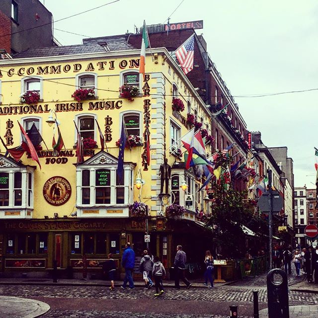 Walking in #Dublin on a bit of a cunty day... Well I had a nice bit of sun for two days so I can't complain... #templebar