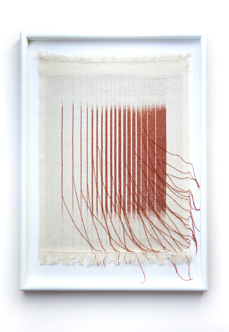Roots I   Silk fibres dyed with tengi (mangrove plant) 420 x 550 mm 2016