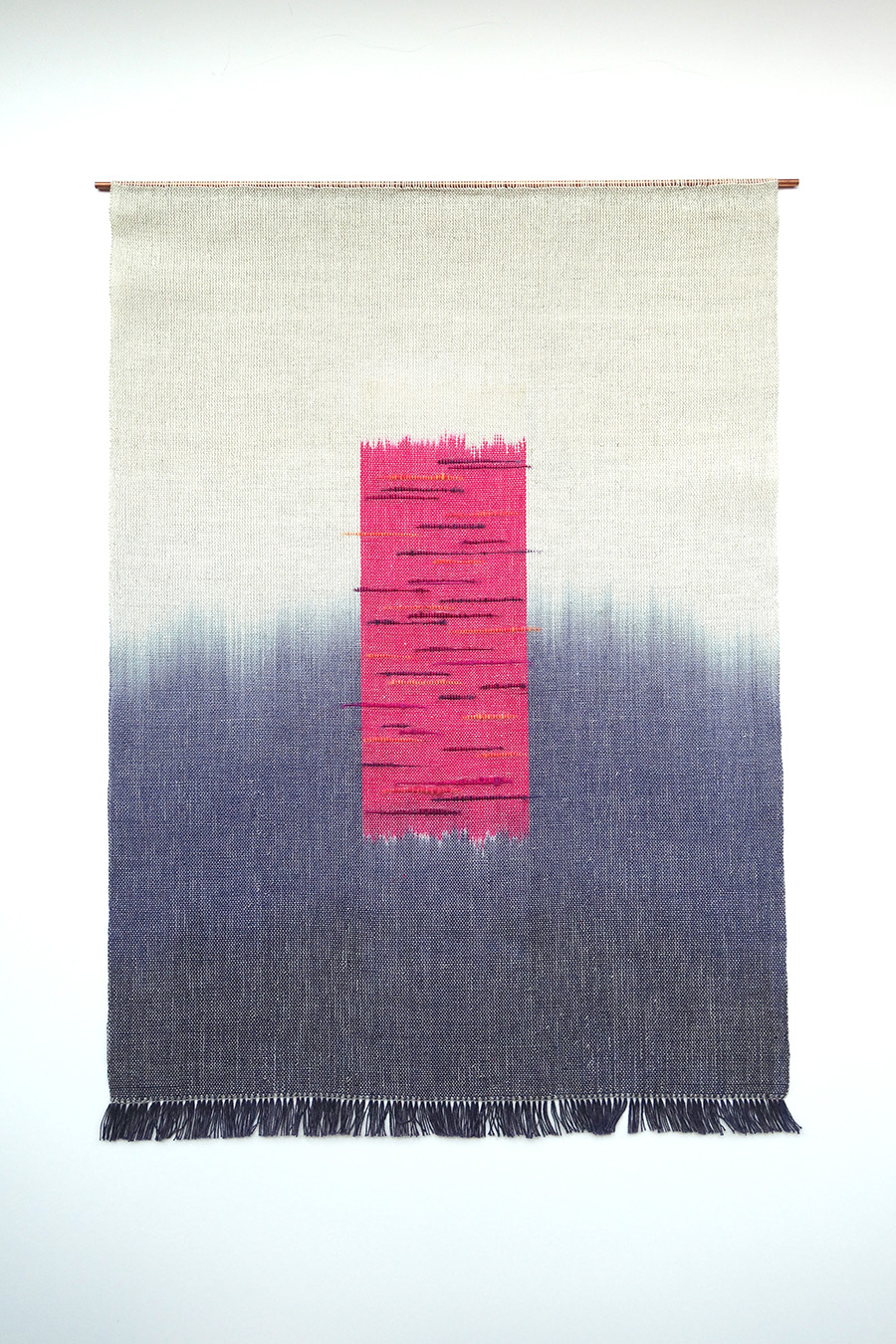 Stalling   Cotton, linen and wool fibres 480 x 640 mm 2015
