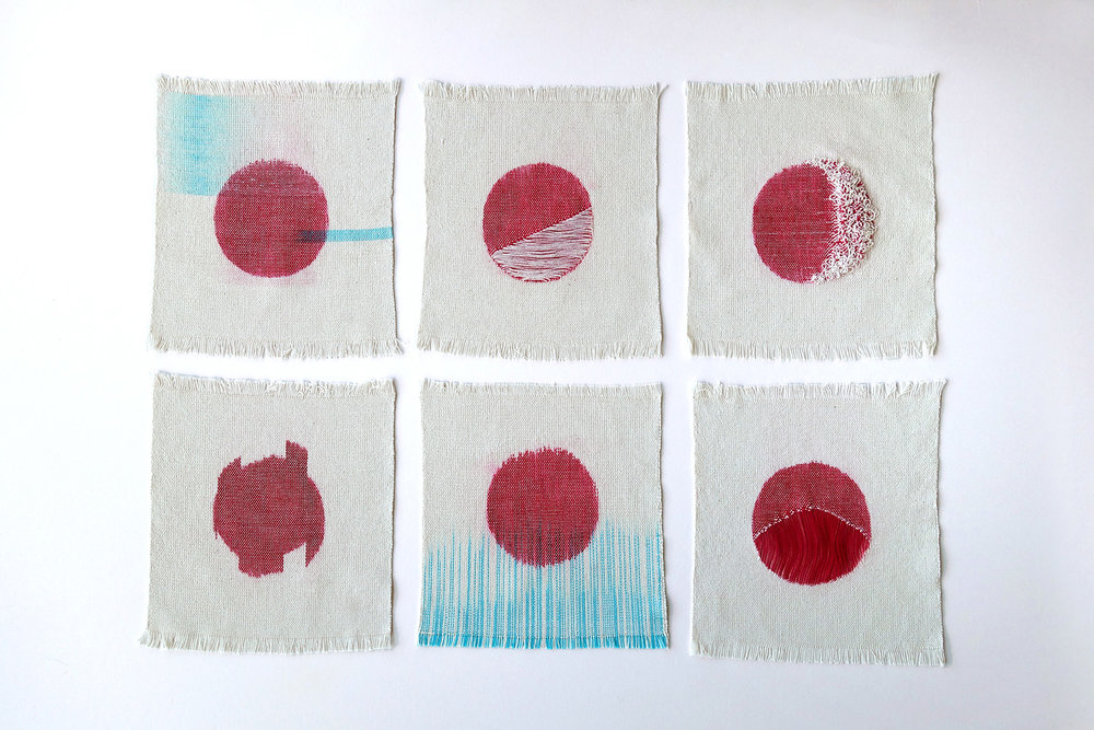 Moon Sketches   Cotton fibres 2015
