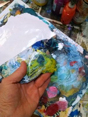 ©Christine Sauer, peeled paint palette skin