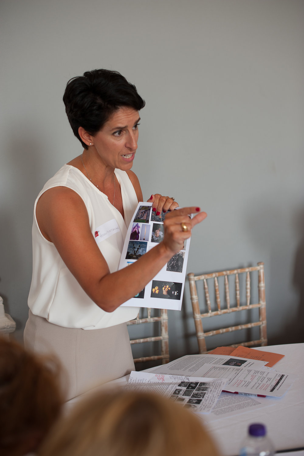 Penny Huntsman, author of Thinking about Art, during a workshop session