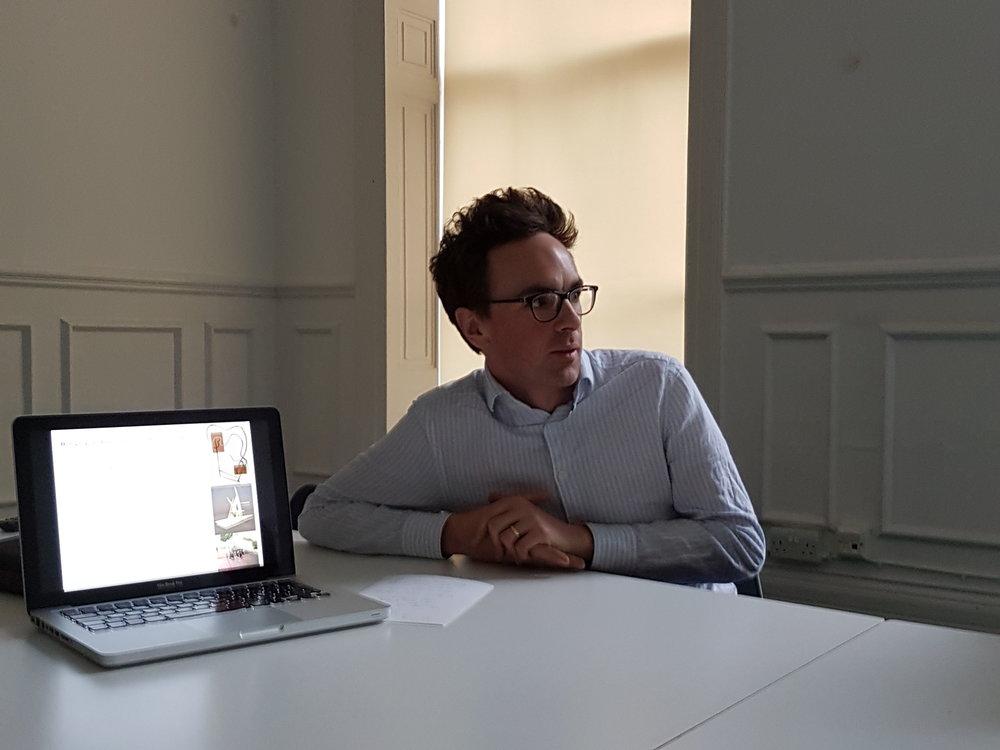 Matt Bunning leads a practical session
