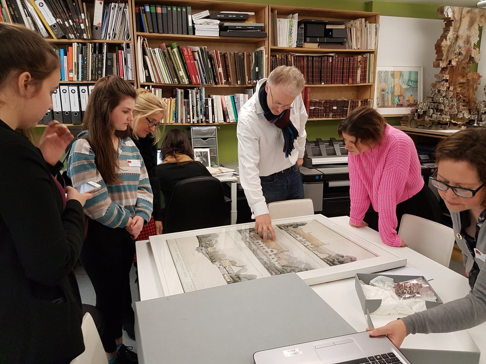 Edward Bottoms leads a tour of the AA archive