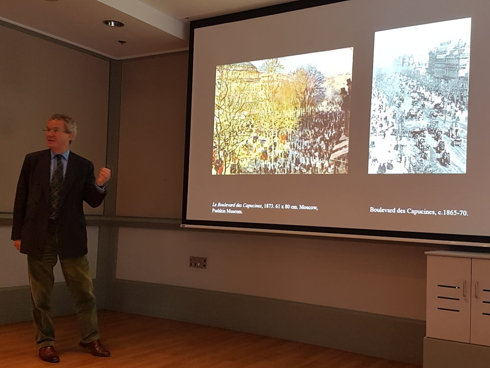 Guest curator Richard Thomson from University of Edinburgh speaks on the 'Monet & Architecture' exhibition