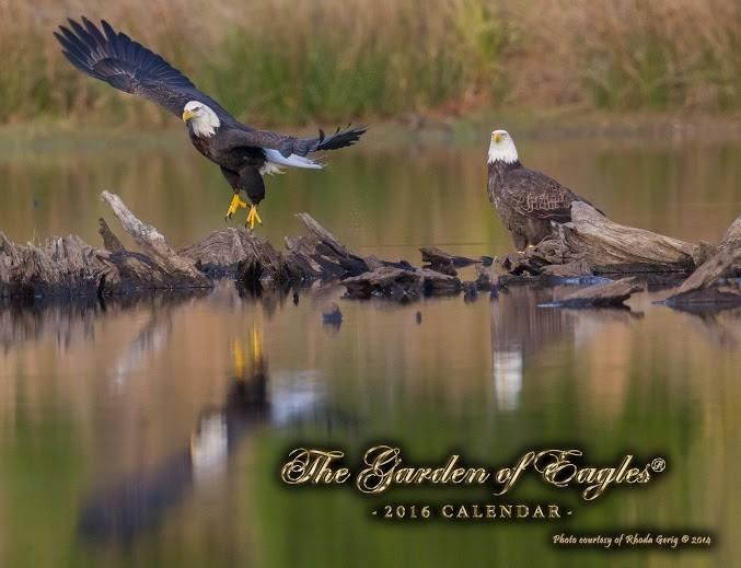 2016 Garden of Eagles Calendar Front Cover