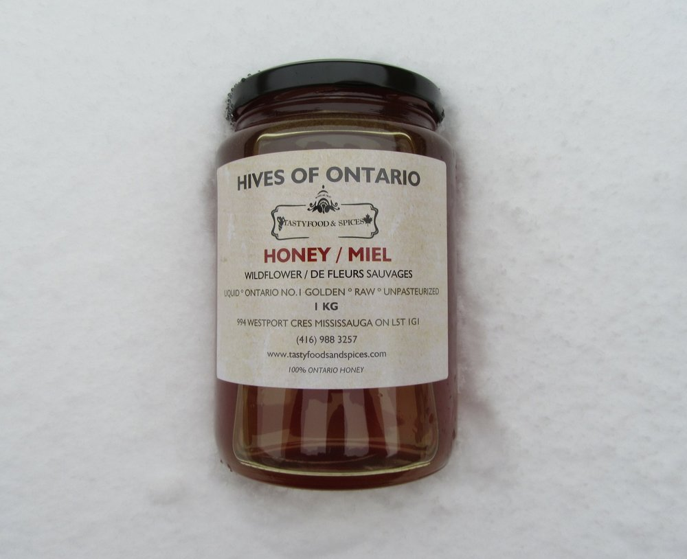 Honey on the snow - Picture taken in Toronto winter of Dec 23 2017