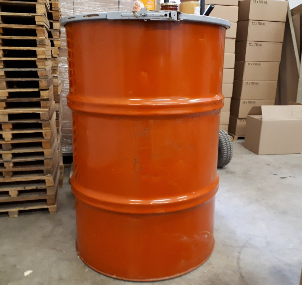 Steel Barrel holds around 300kgs of Honey