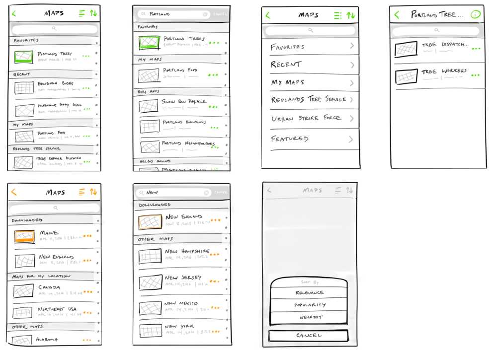 """""""Home"""" sketches by Justin Velgos, senior UX Architect of mobile apps"""