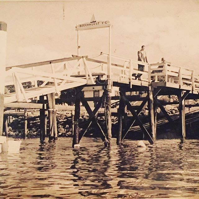 The original pier from the #Beechhurst Yacht Club that still remains @duepontiwhitestone