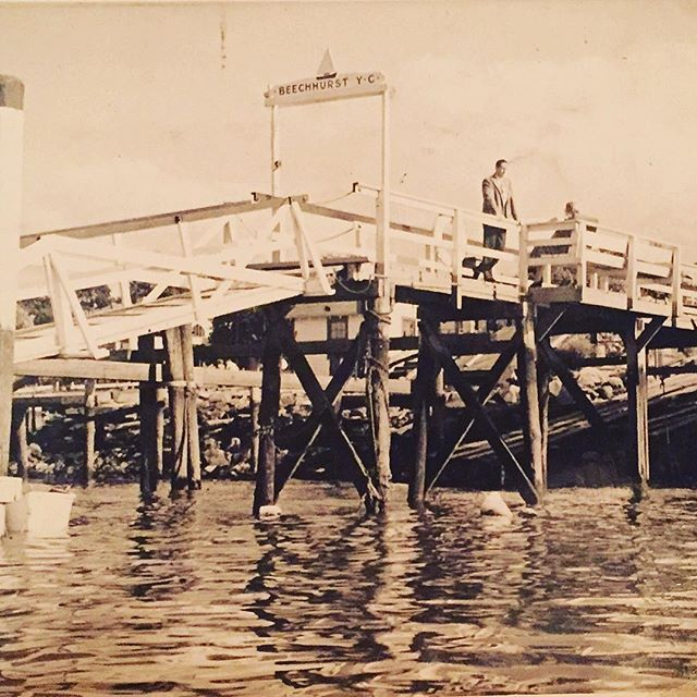 Original pier extinct @Beechhurst yacht club @queens_historical_society